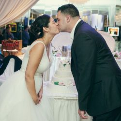 Siricos-Caterers-Wedding-Bride-and-Groom-Kiss